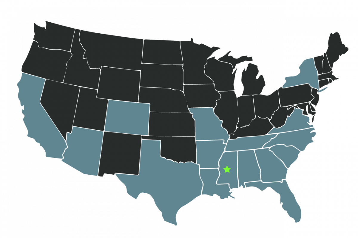 Wealthview clients around USA map